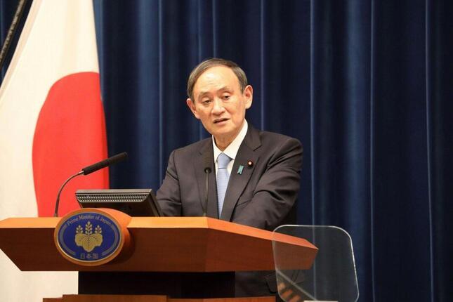 処理水の海洋放出を決めた菅義偉首相