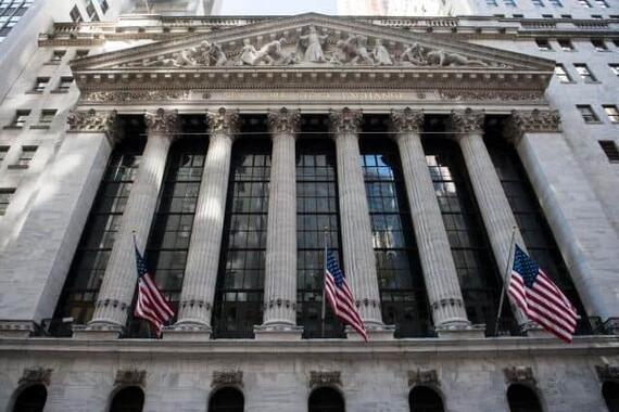 米国株の急落が影響して......(写真は、米ニューヨーク証券取引所)