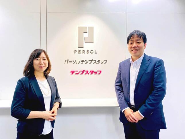 パーソルテンプスタッフBPO領域事業管理本部長、上原加寿子氏(左)と取締役執行役員 BPO領域長、市村和幸氏
