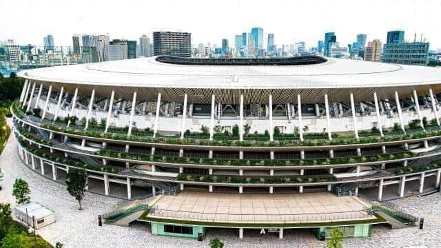 東京オリンピックが閉会、市場に強まる政治色(写真は、新国立競技場)