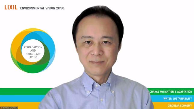 川上敏弘さん。「脱炭素に取り組むことは、次世代に対する責任です」