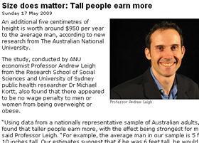 オーストラリア国立大学のサイトで研究結果の概要が紹介されている。写真はリー教授