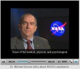 NASAの支援策について語るマイケル・ダンカン博士(NASAのホームページより)