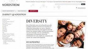 ダイバシティ(多様性)への取り組みをうたうノードストロムのウェブサイト