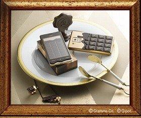 チョコレートそっくりな形(ドコモのウェブサイトより)