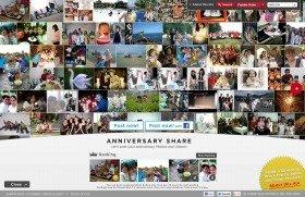 アジアからの投稿が相次ぐグローバル向けサイトの「ANNIVERSARY SHARE」
