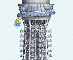 建物の高さを表した東京スカイツリーのウェブサイト