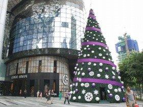 季節の変化がないシンガポールのクリスマス。フェイスブックに流れる日本の桜が懐かしい…