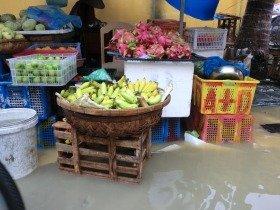 洪水がきても市場を再開