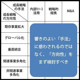図2:成長戦略の手法と方向性(Karnani教授論文を基に筆者作成)