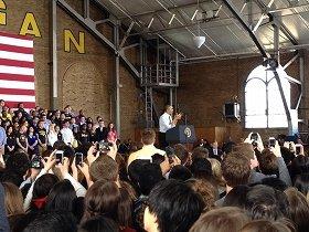 オバマ大統領が街にやって来た!