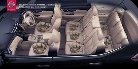 同社の車種「XTrail」の各座席に王冠が