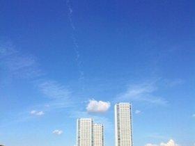 あっ、飛行機雲だ