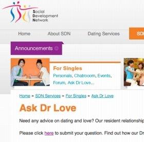 これがシンガポールSDNのサイト。Dr Loveが相談に乗ってくれます