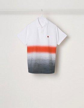 北斎の浮世絵風のポロシャツ