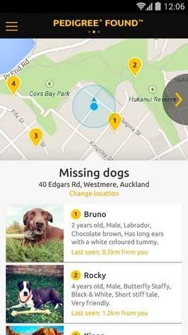 逃げ出した犬の情報を一覧化