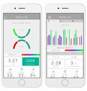 アプリが歯磨きの質を記録する