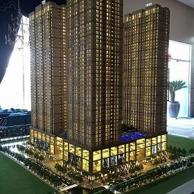 2年後にできると、販売員が言っているビルの完成予想図