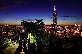街のシンボル「台北101」がそびえ立つ