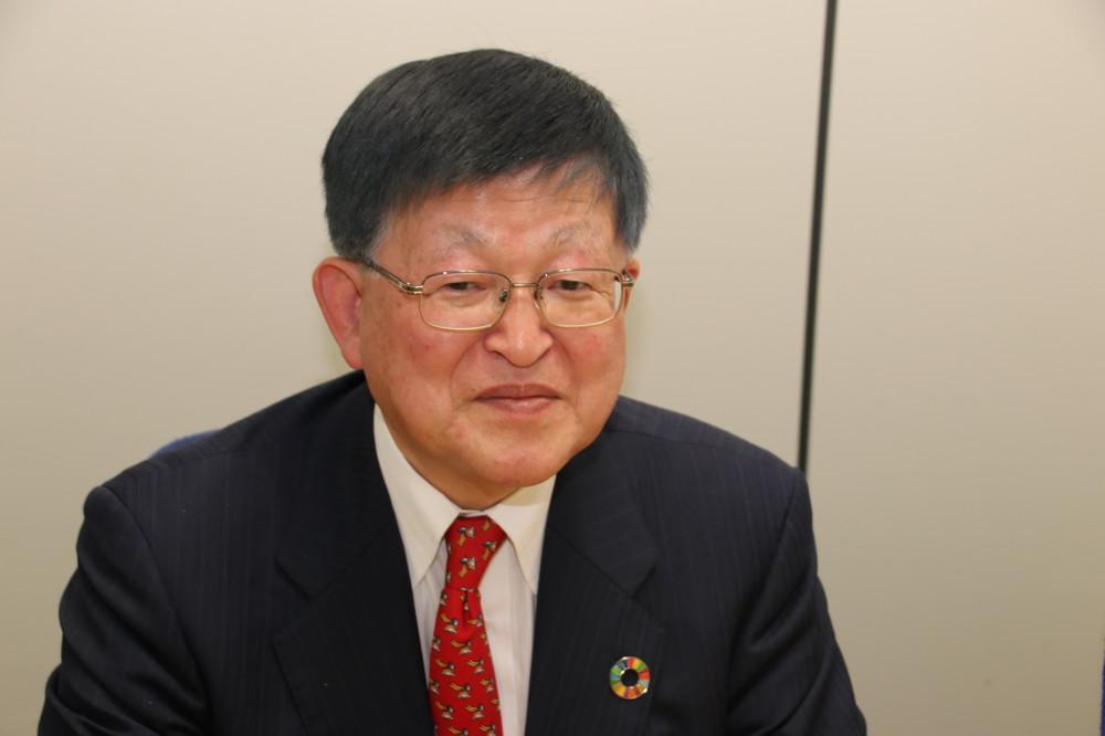 SDGsは5つの「P」で構成されている(写真は、笹谷秀光氏)