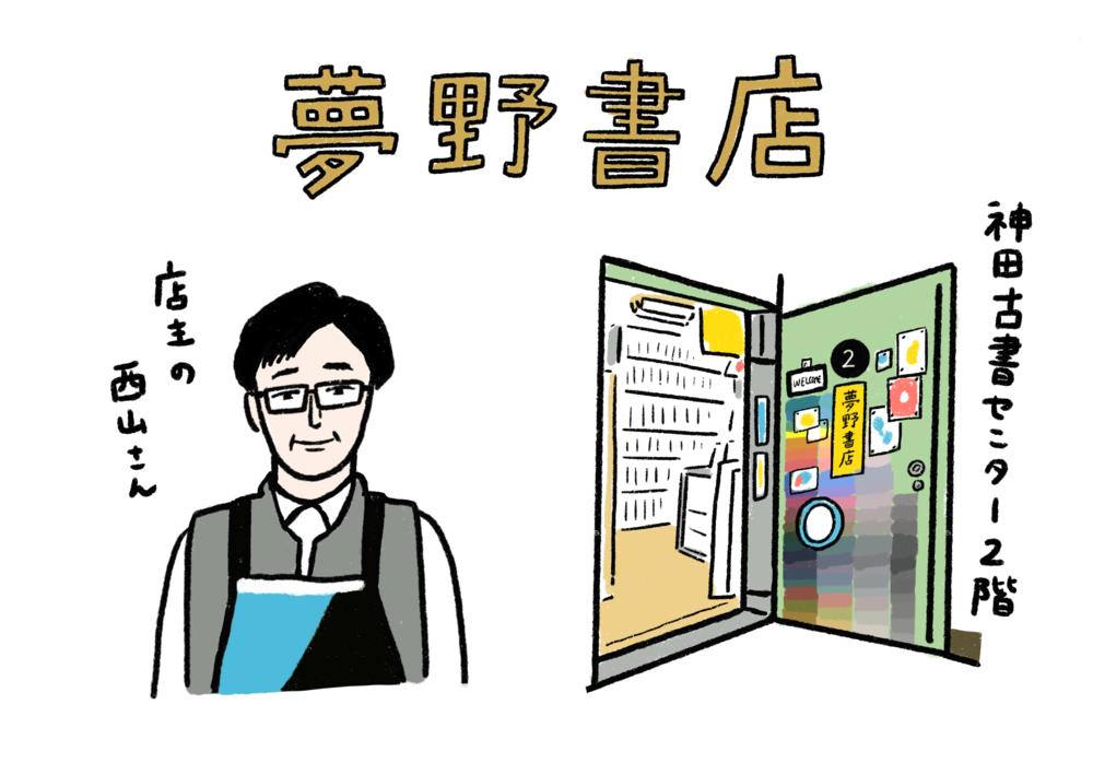 「夢野書店」は神田古書センターの2階にある