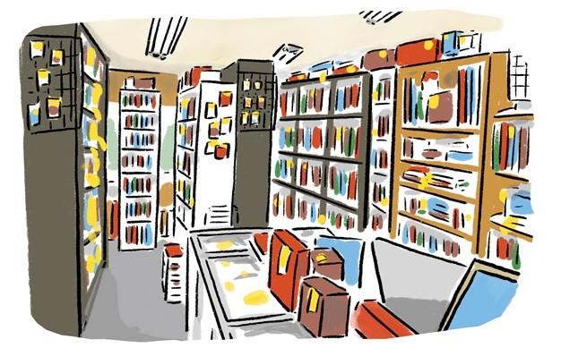 こじんまりとした店内は本以外にもさまざまな商品が並ぶ