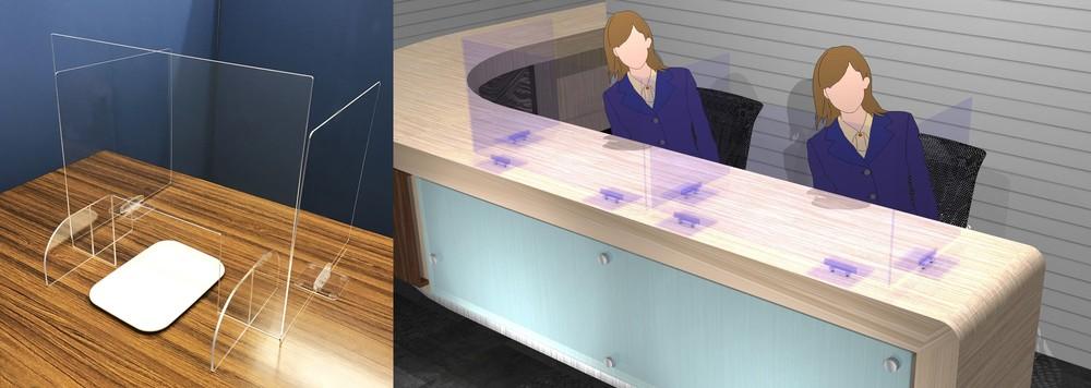 【コロナに勝つ! ニッポンの会社】飛沫対策の卓上パーテーション、スマホ使った健康状況報告システム