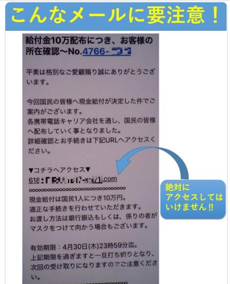 (図表2)警視庁が公開した詐欺メール