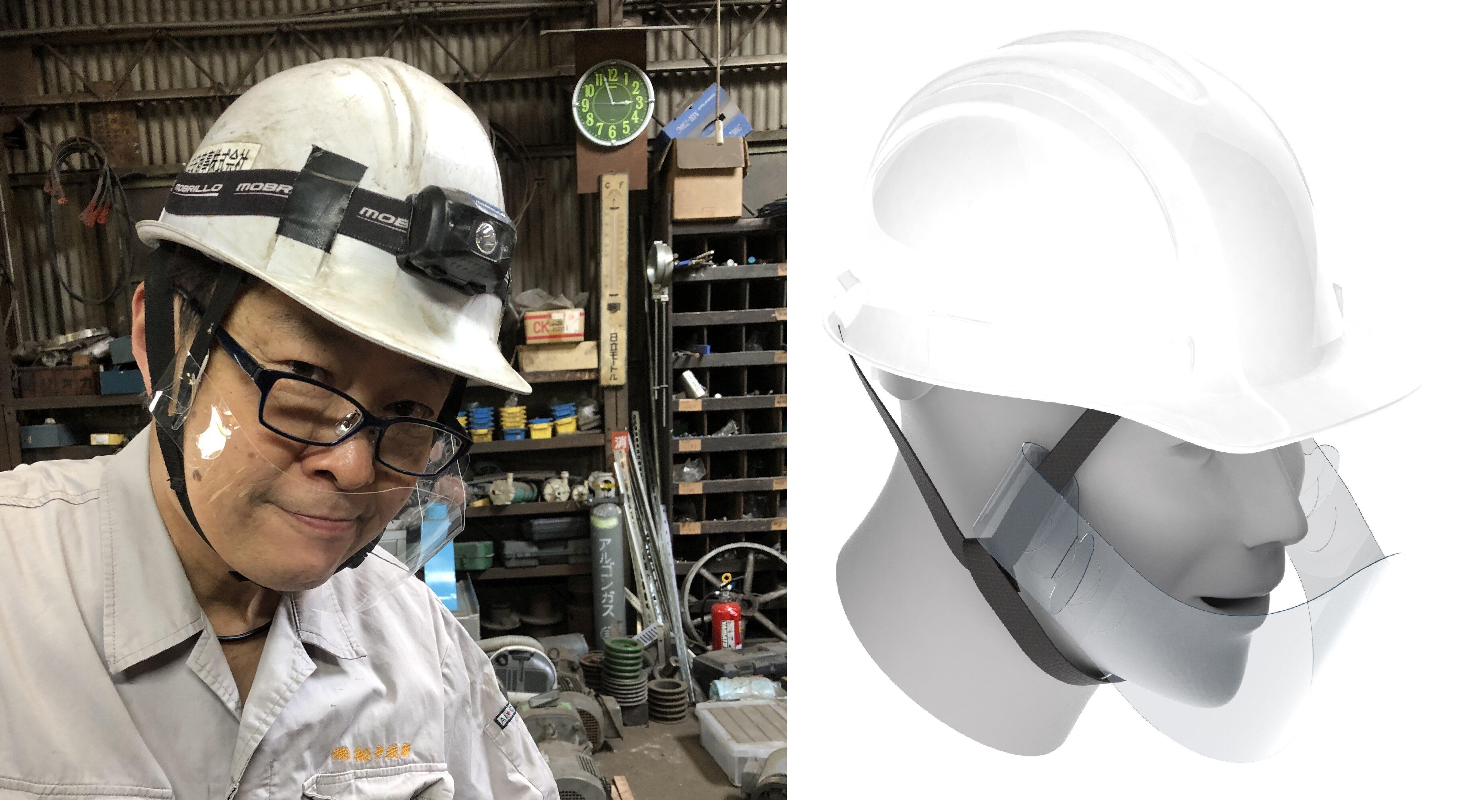 ヘルメット装着用のマウスシールド