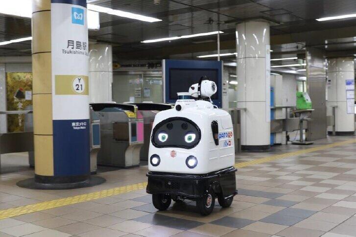 駅で消毒の実証実験を行った「PATORO」