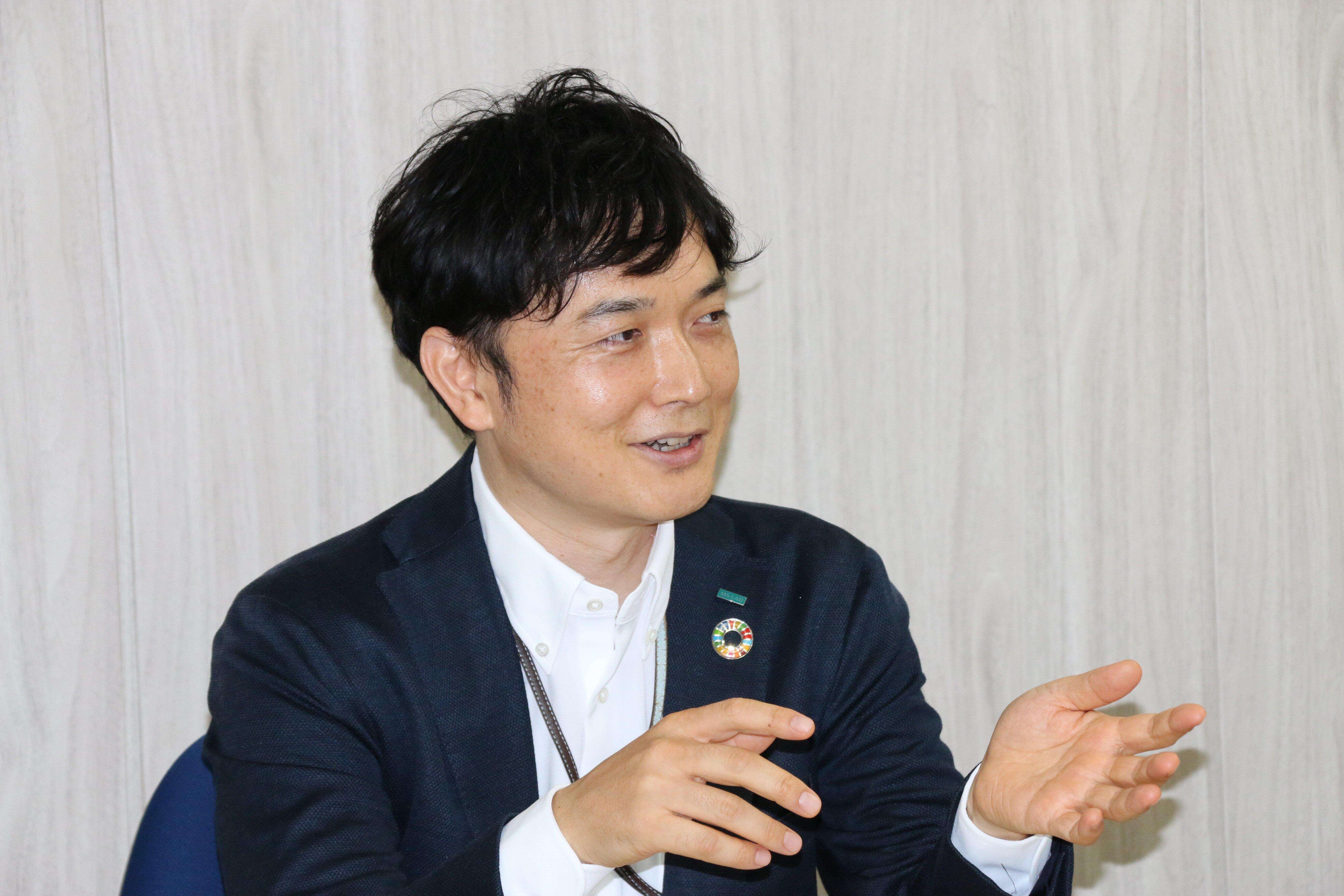 大塚さんは「お客様、寄付先、当社の『三方よし』の社会貢献の仕組み」という