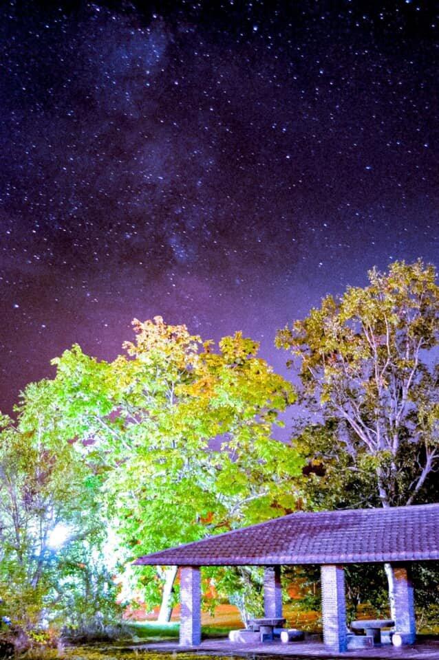 芦別の夜空の天の川(北海道ホテル&リゾート提供)