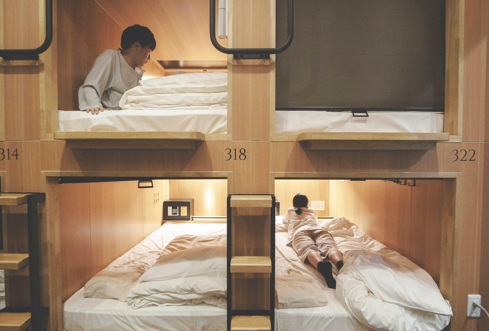 冬のコロナ対策、京都のカプセルホテルが新幹線並み換気機能アピール