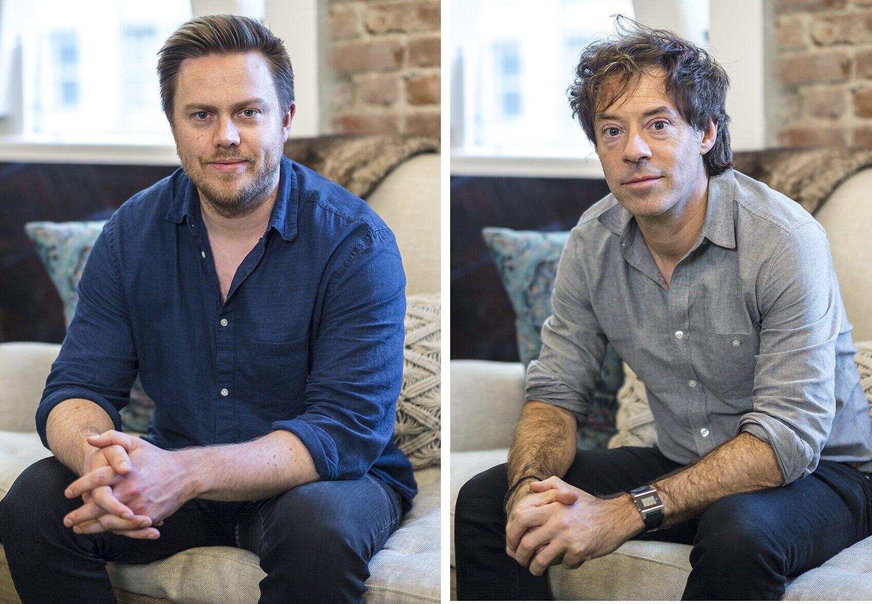 Calmのアレックス・テューCEO(左)とマイケル・アクトン・スミスCEO