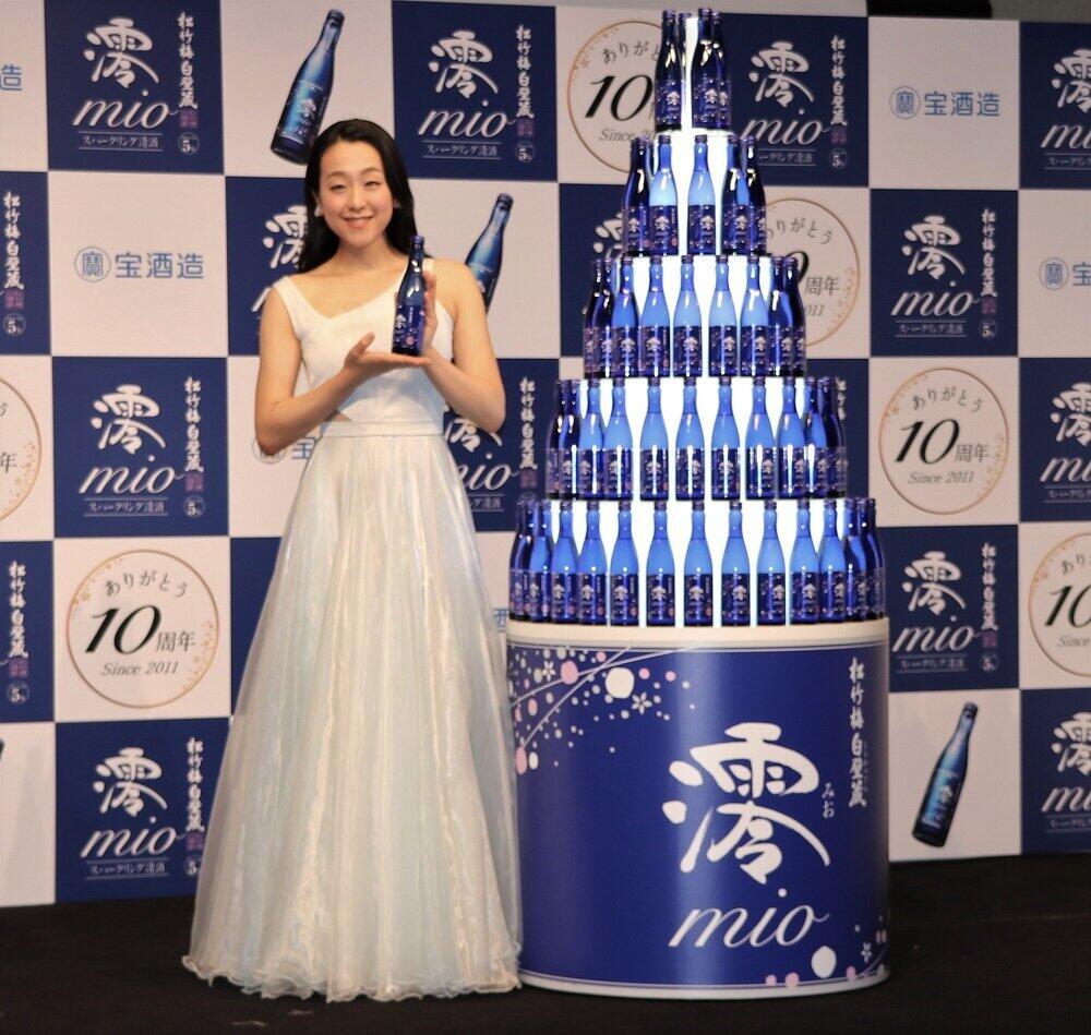 宝酒造「澪」10周年 アンバサダーに浅田真央さん迎え「私にぴったりの日本酒」アピール