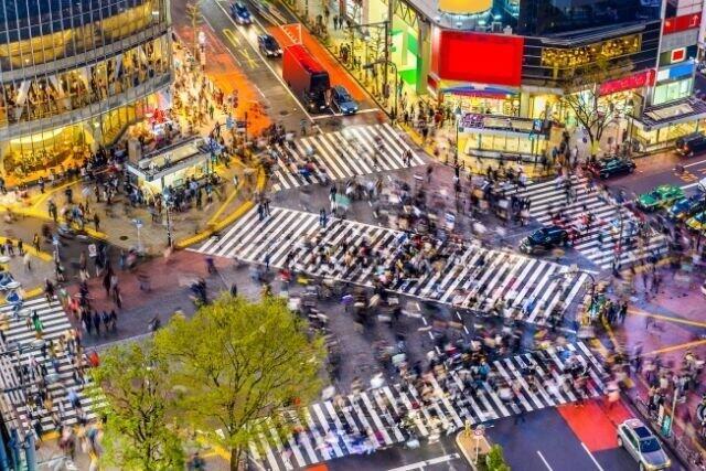 街は色であふれている!(写真は、渋谷スクランブル交差点)