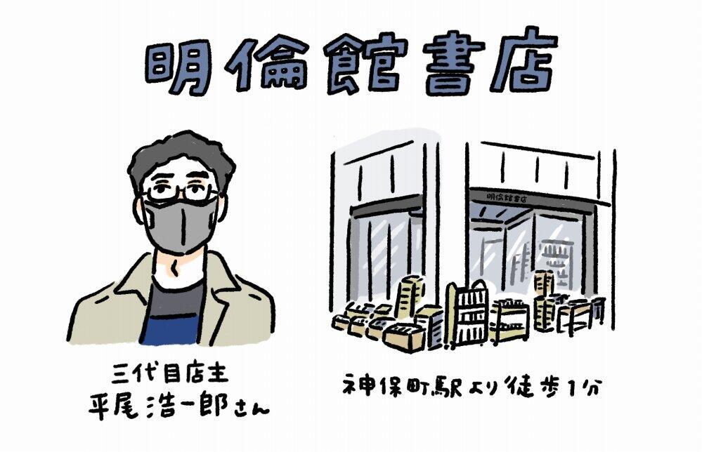 明倫館書店の店主、平尾浩一郎さんは幼少期を古書に囲まれて過ごした