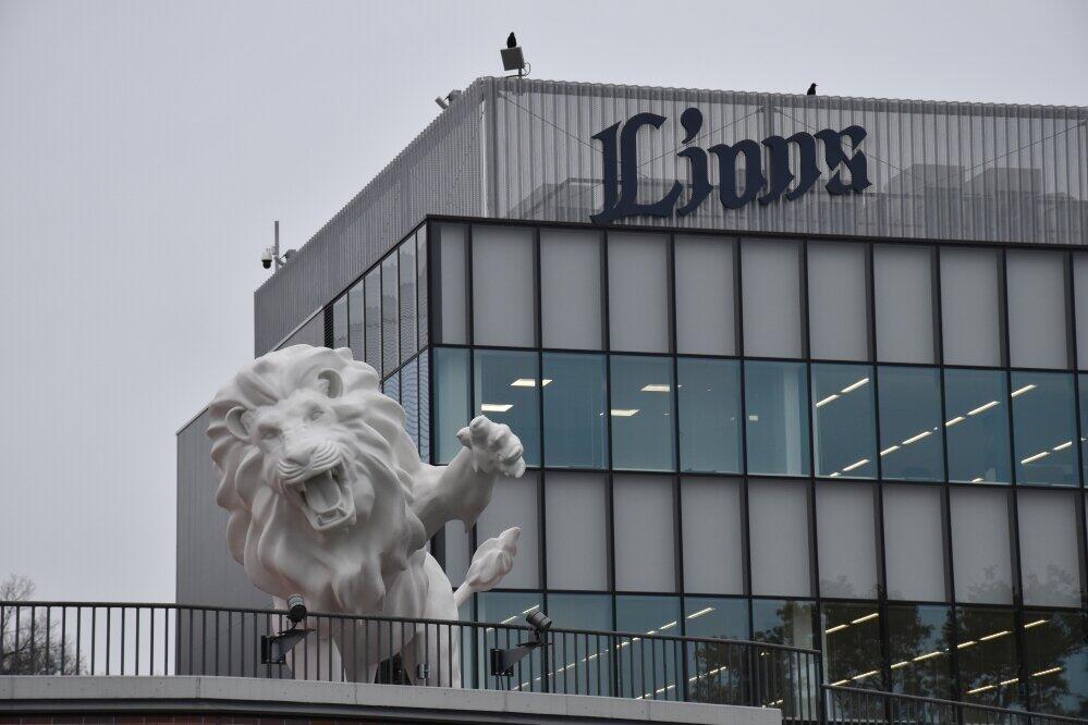 全長約7メートルのライオンのオブジェ「SPIRIT of KING」