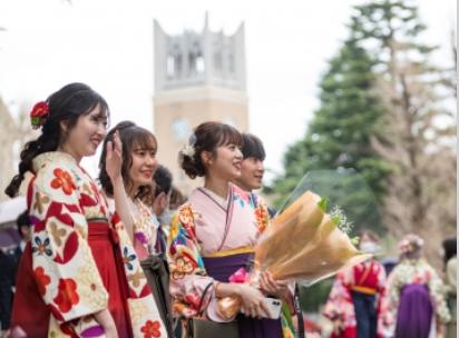 早稲田大学の卒業式