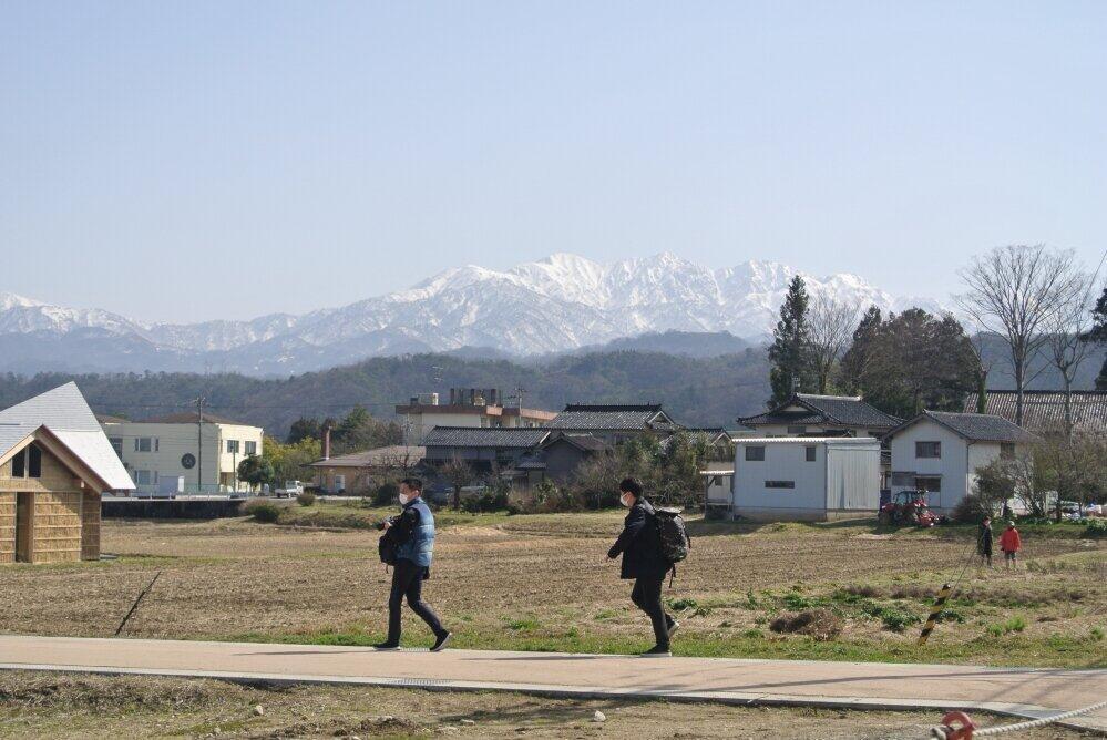 富山のシンボル立山連峰。天気がよければ一望できる