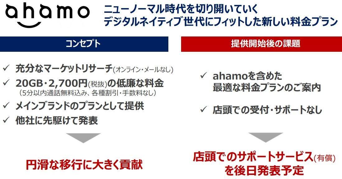 NTTドコモが総務省有識者会議に出した「Ahamoの課題」の報告書