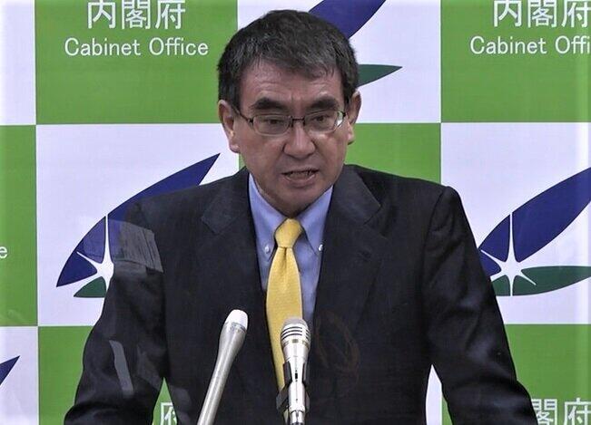 「手を挙げる企業を待っています」と語る河野太郎ワクチン担当相