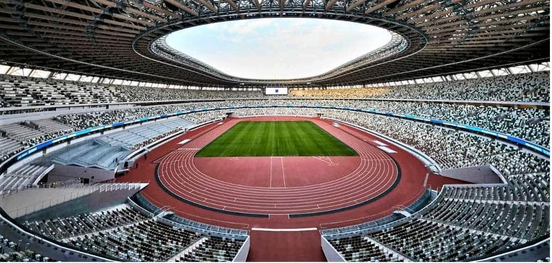 開会式が開かれる国立競技場