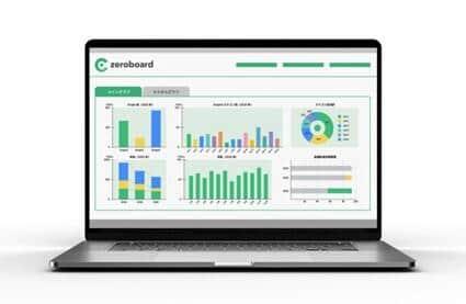 zeroboardの画面イメージ。機能の一部である「環境価値取引システム」は、本年度の東京都の助成事業にも採択された