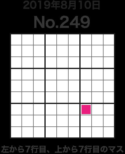 2019年8月10日 No.249 左から7行目、上から7行目のマス