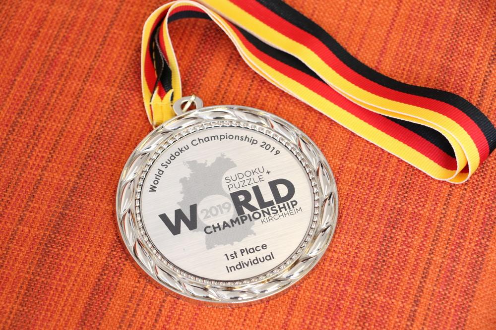 個人戦1位のメダル