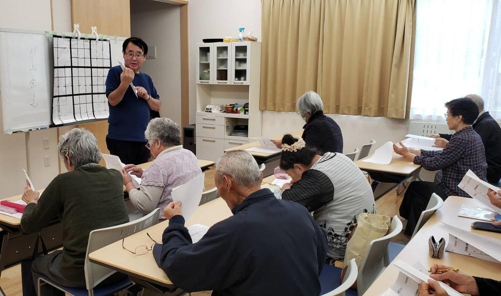 大槌町で開いた数独教室の様子(提供:ソーシャルハーツ)