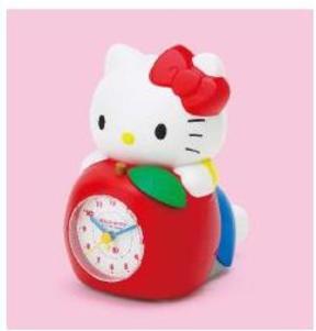 「時間ですよ~」キティがしゃべりながら走る目覚まし時計