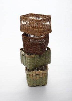 自然素材の魅力が活きる 使い方自在「四角い籠」