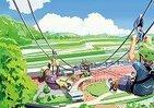 山から地上へシャーッ!と空中滑走 「日本最長343m」メガジップラインつばさ、3月誕生